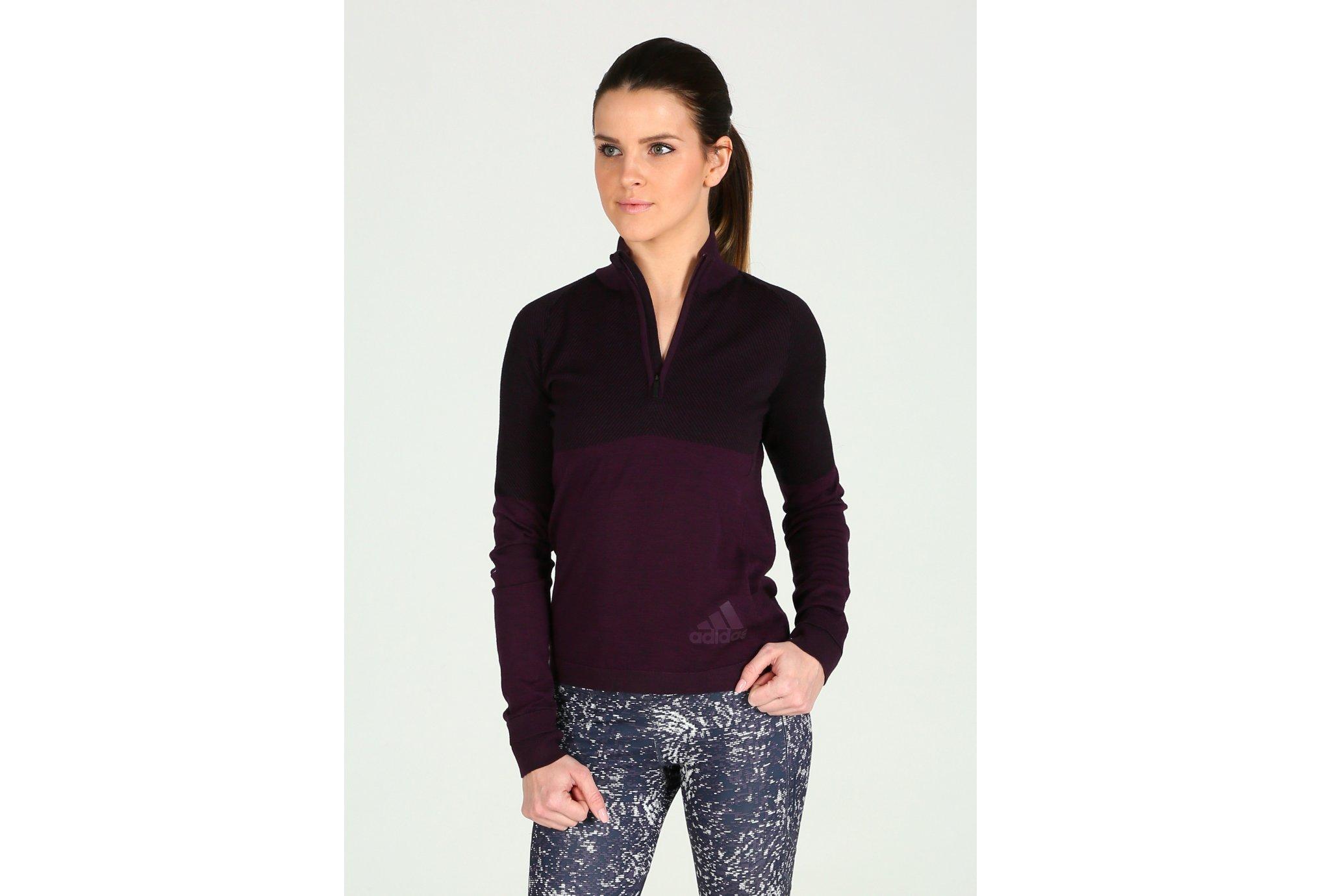 Adidas Climaheat primeknit zip w vêtement running femme