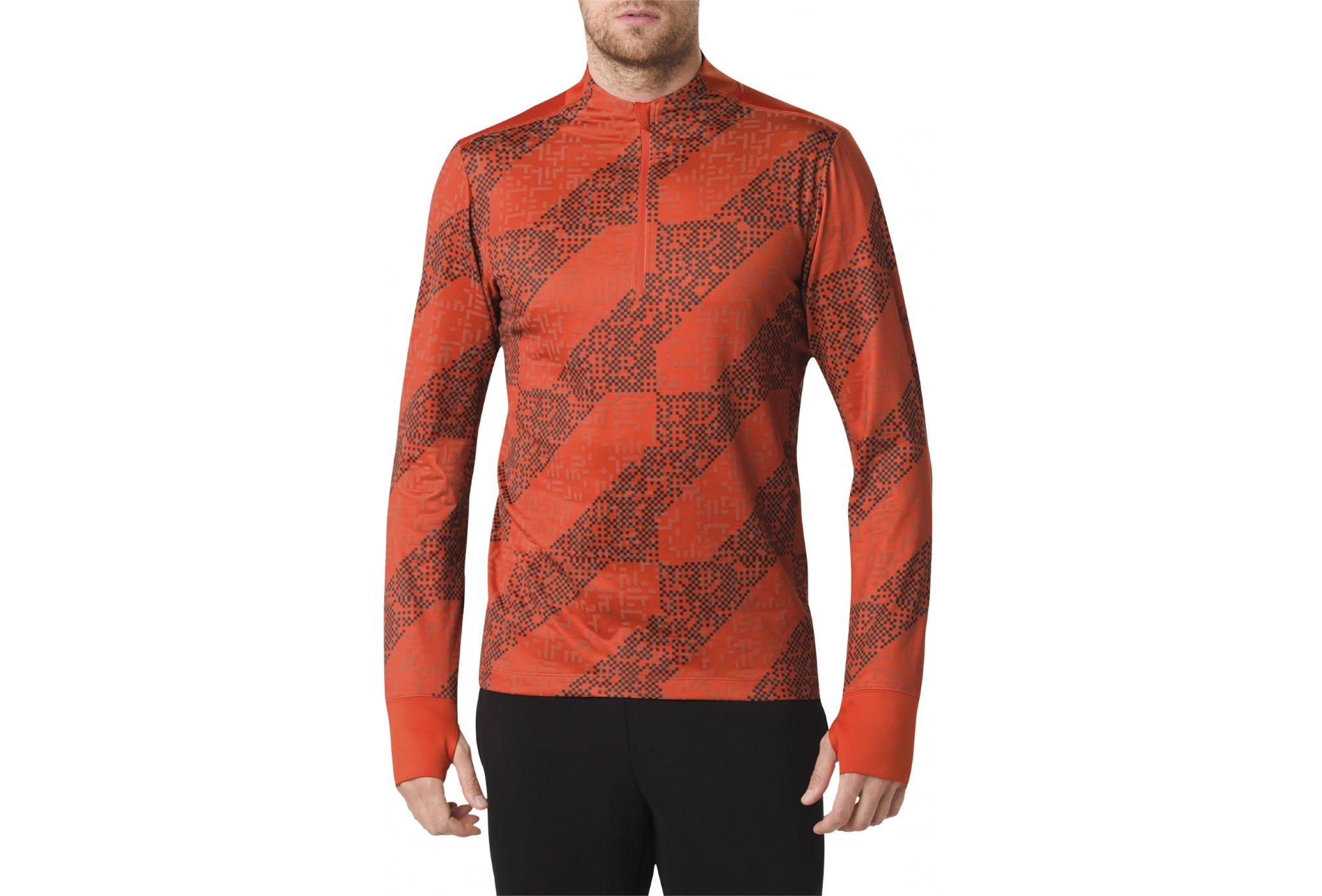 Zip Asics 12 Fortifiée Ls Homme Running Lite La M Show Vêtement 5LRc3Aj4q