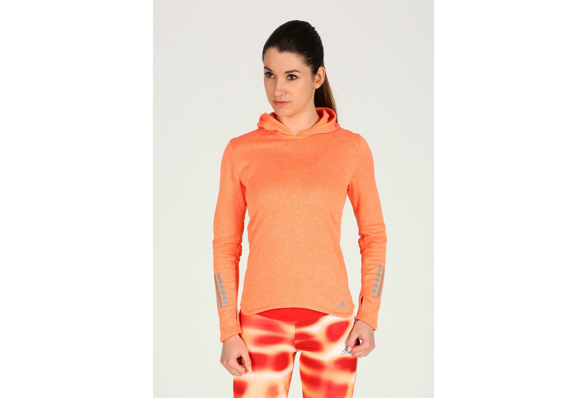 Adidas Response hoodie w vêtement running femme