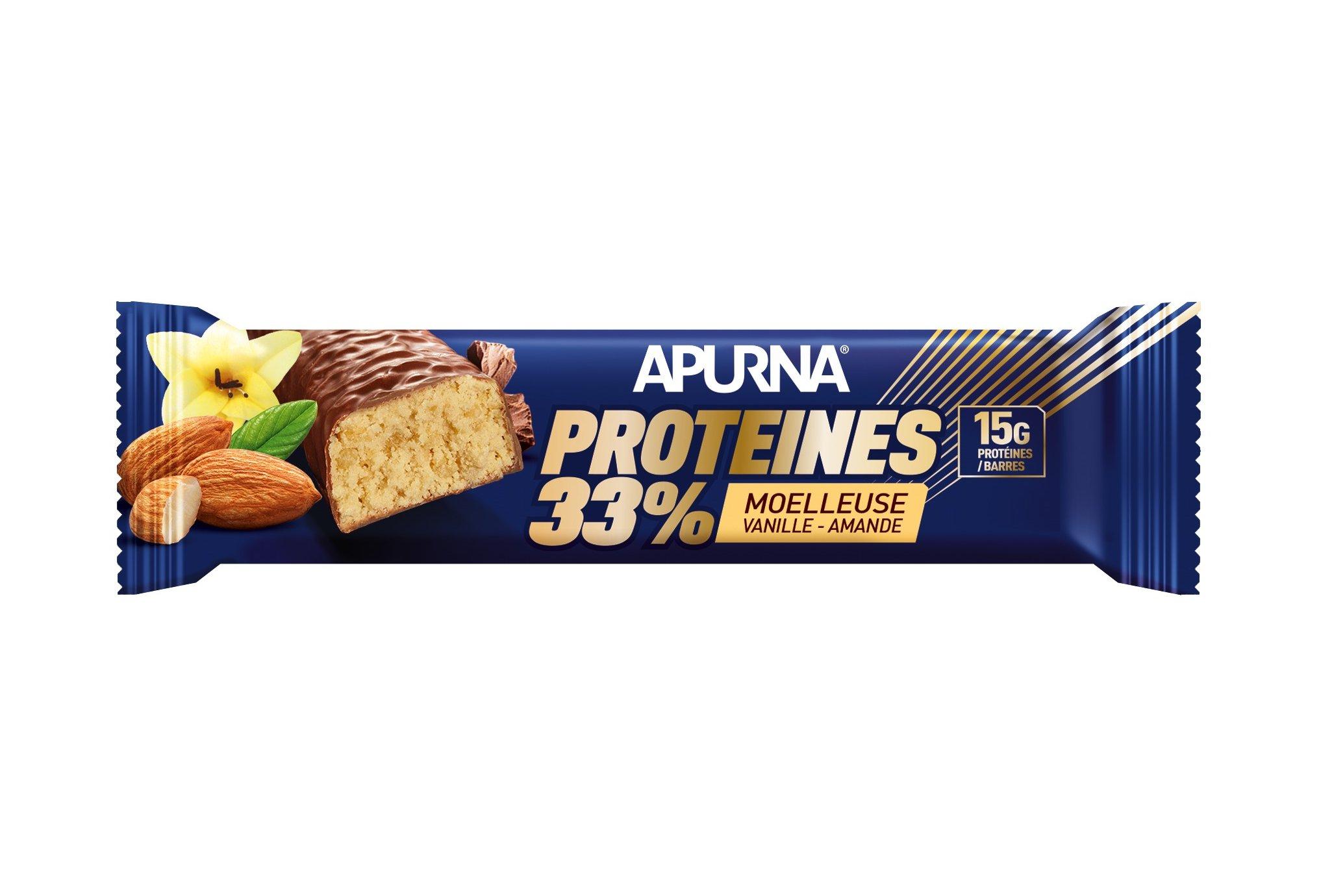 Apurna Barre Protéinée - Moelleuse Vanille Amande Diététique Protéines / récupération