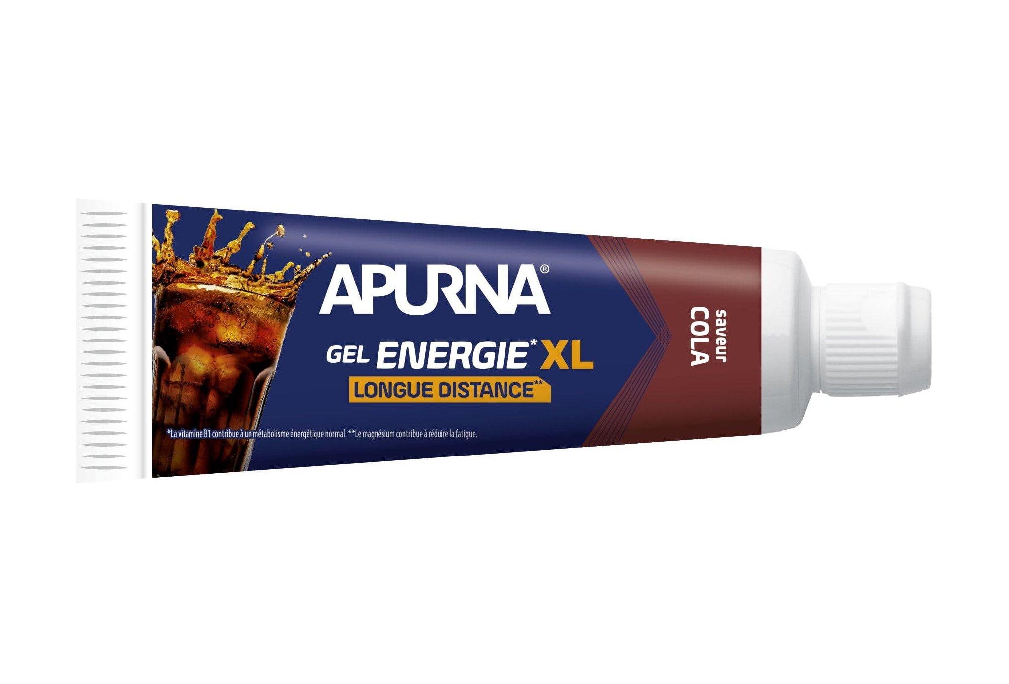 Apurna Énergie Longue Distance XL - Cola Diététique Gels
