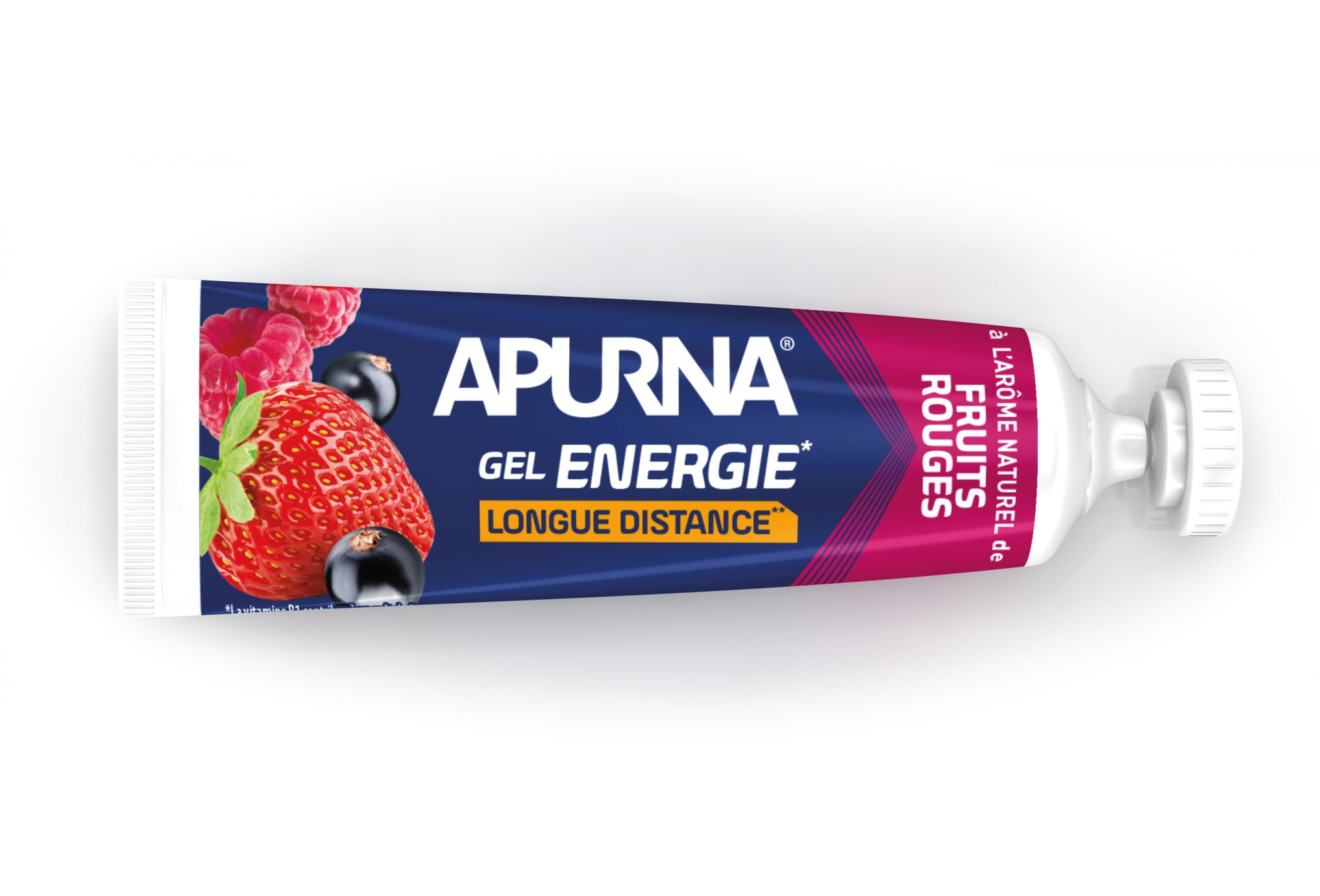Apurna Gel energético larga distancia-Frutos rojos Diététique Gels