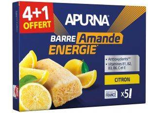 Apurna Pack de barras energéticas limón/almendra 4+1