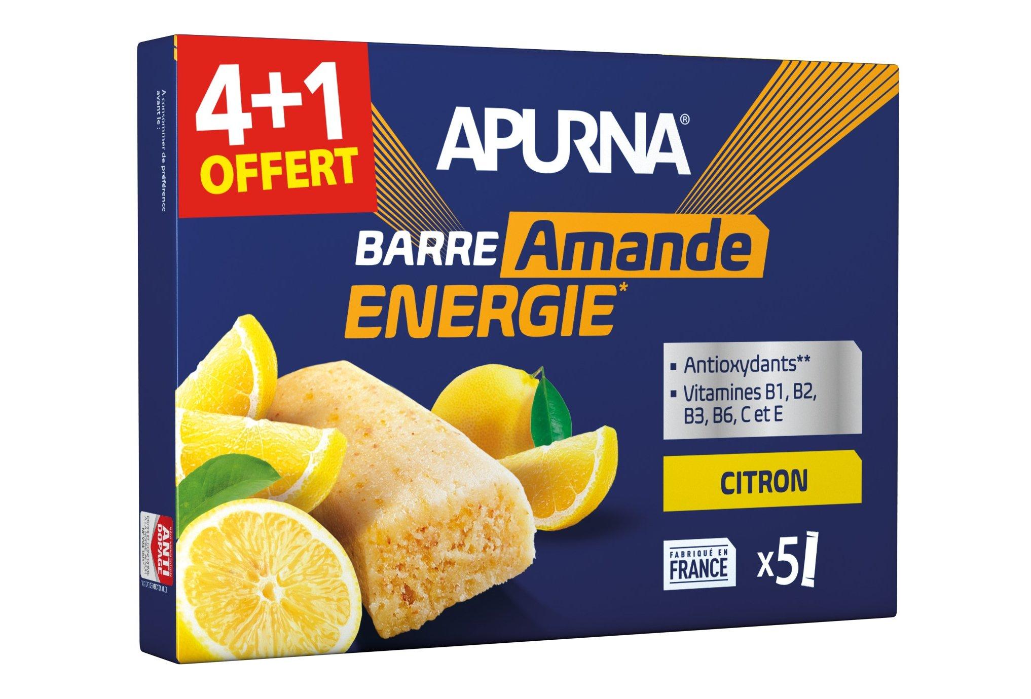 Apurna Pack de barras energéticas limón/almendra 4+1 Diététique Barres