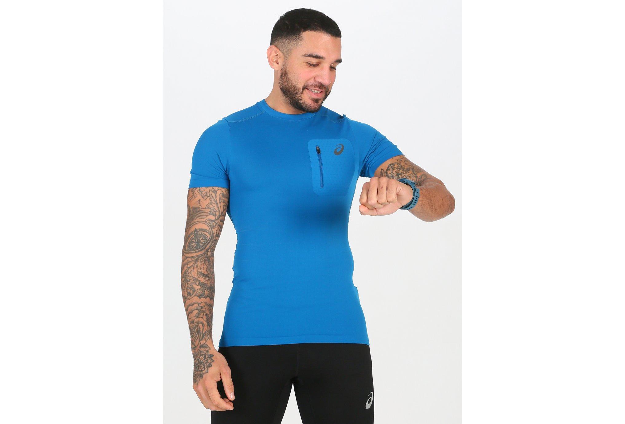 Asics Elite SS Top M Diététique Vêtements homme