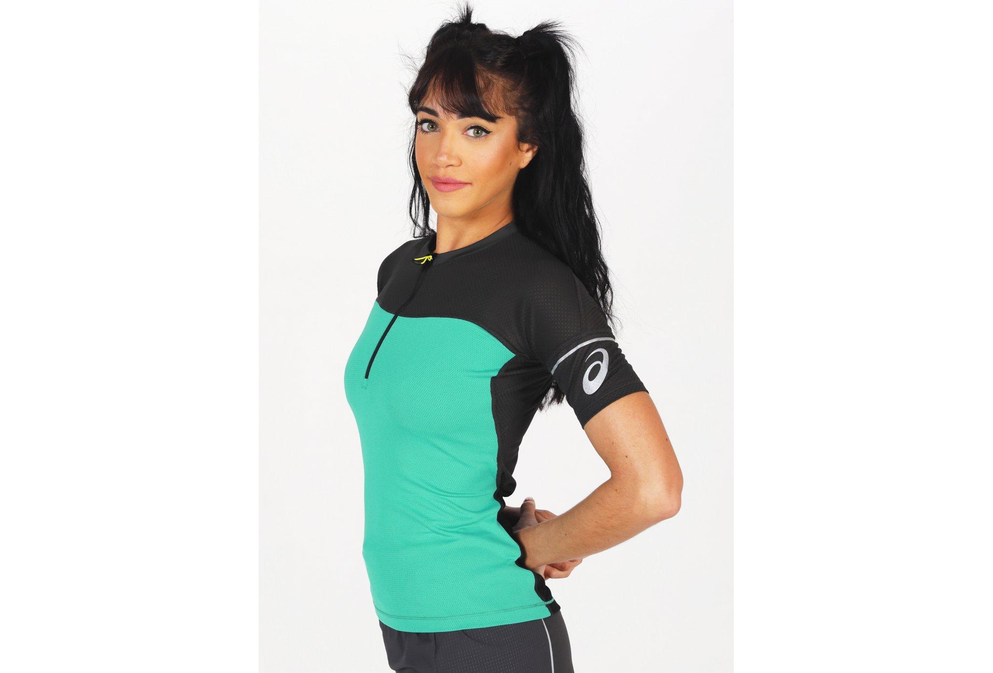 Asics Fujitrail 1/2 Zip W vêtement running femme