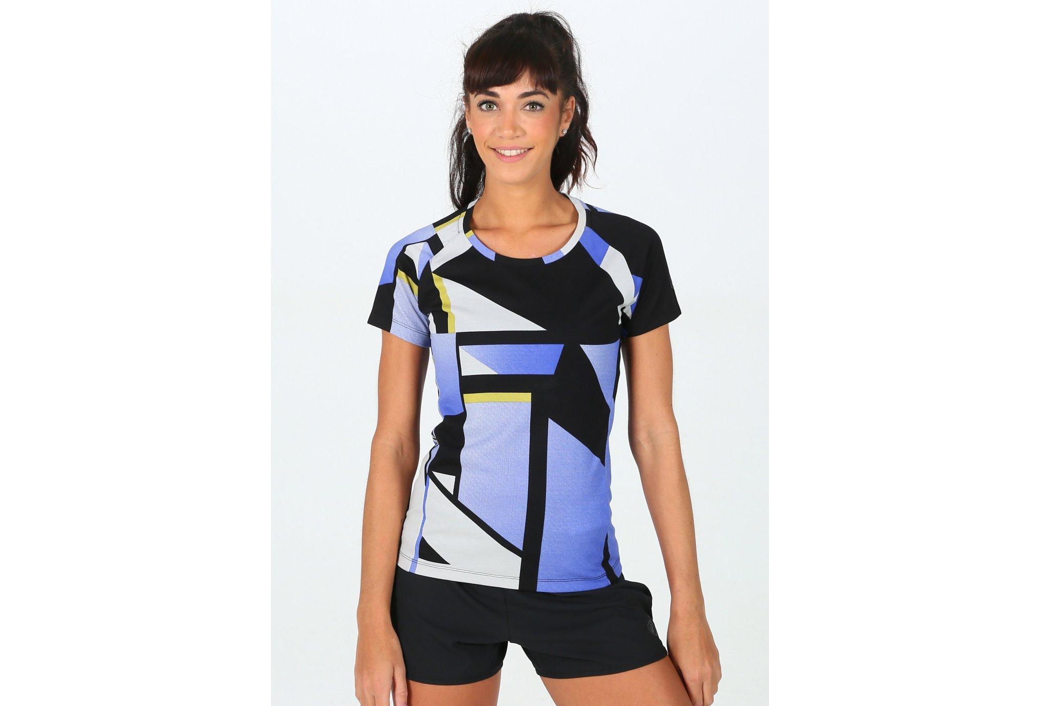 Asics FuzeX Printed SS Top W vêtement running femme