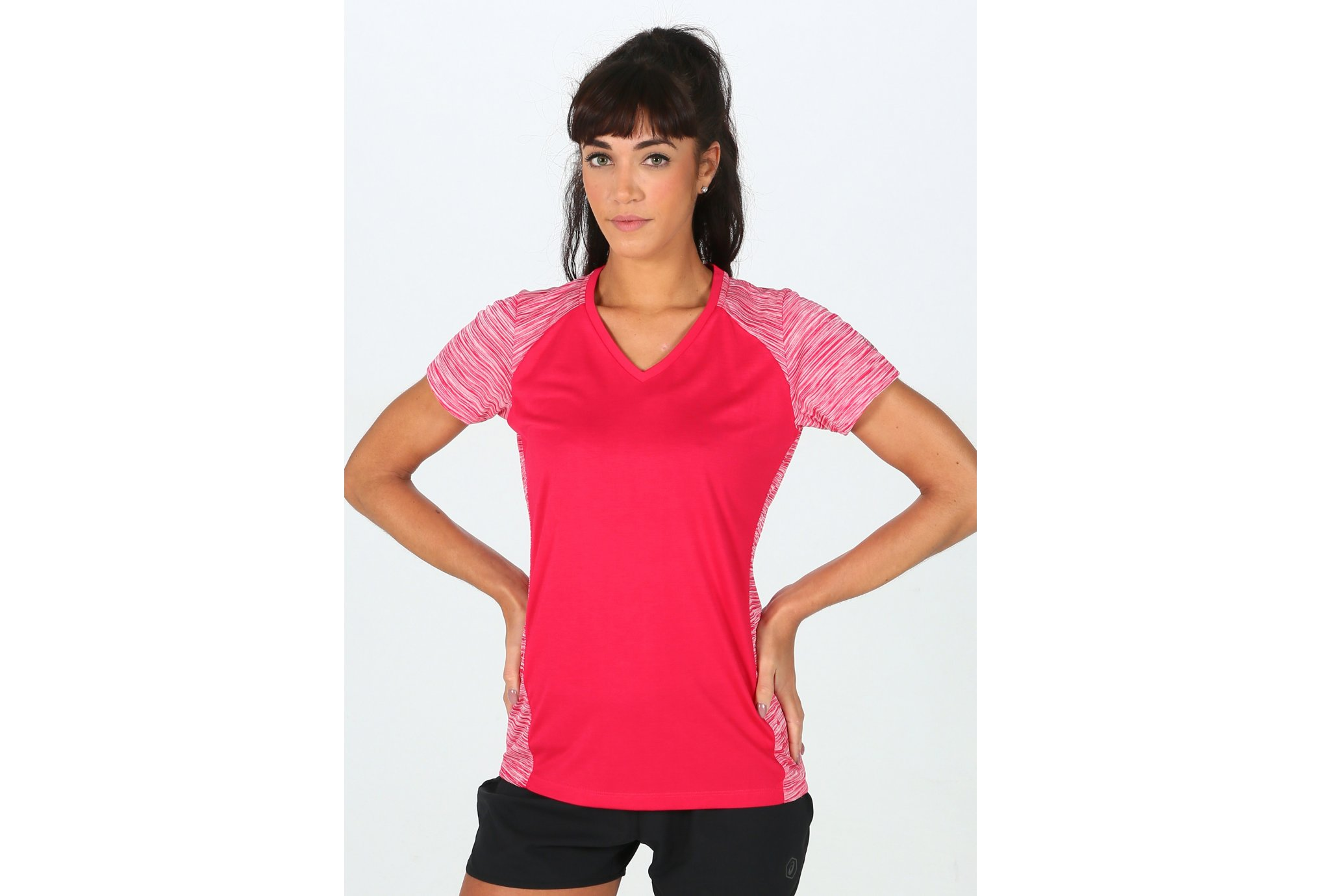 Asics FuzeX V-Neck SS Top W vêtement running femme