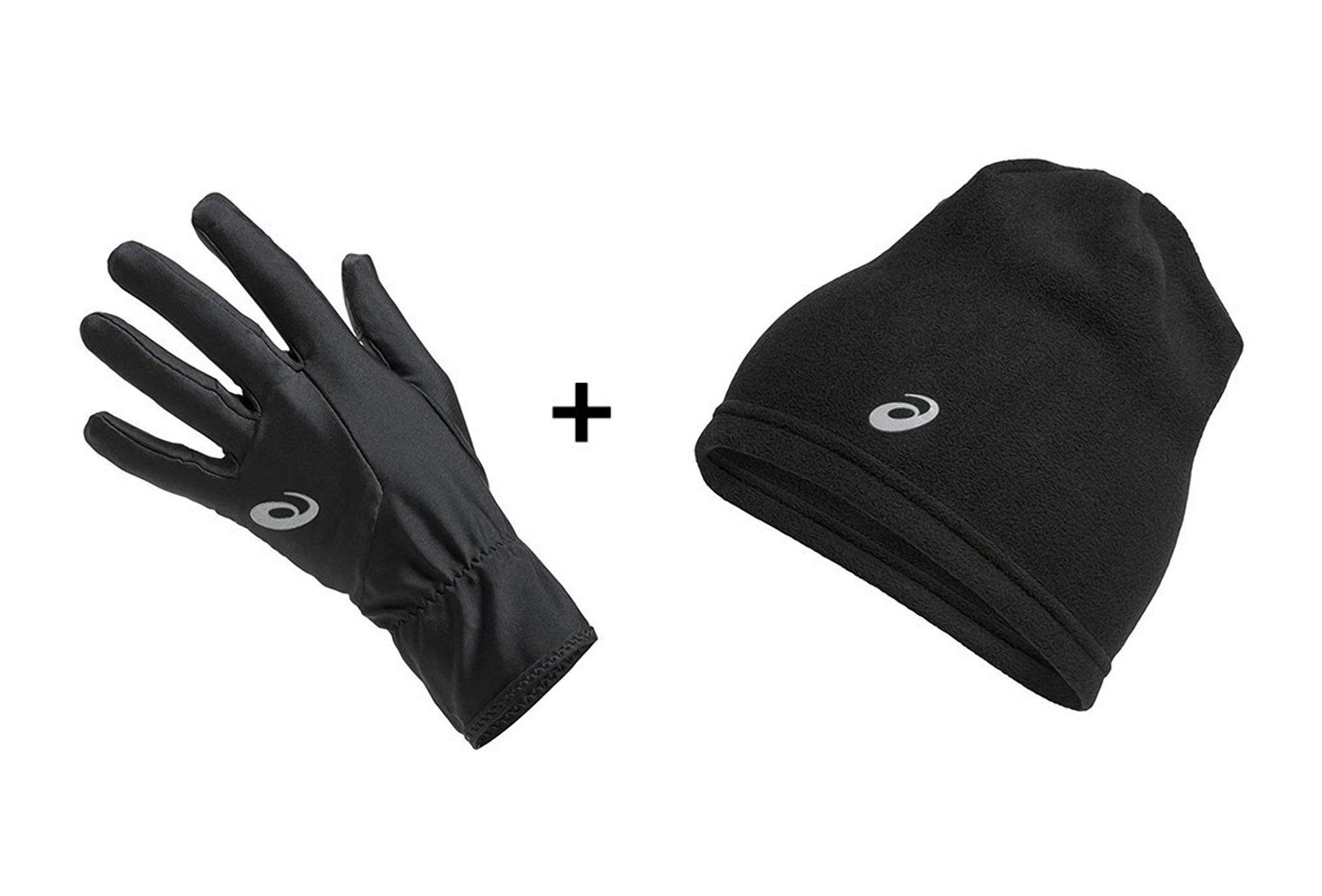 Asics Pack Beanie Performance + Running Gloves Performance Bonnets / Gants