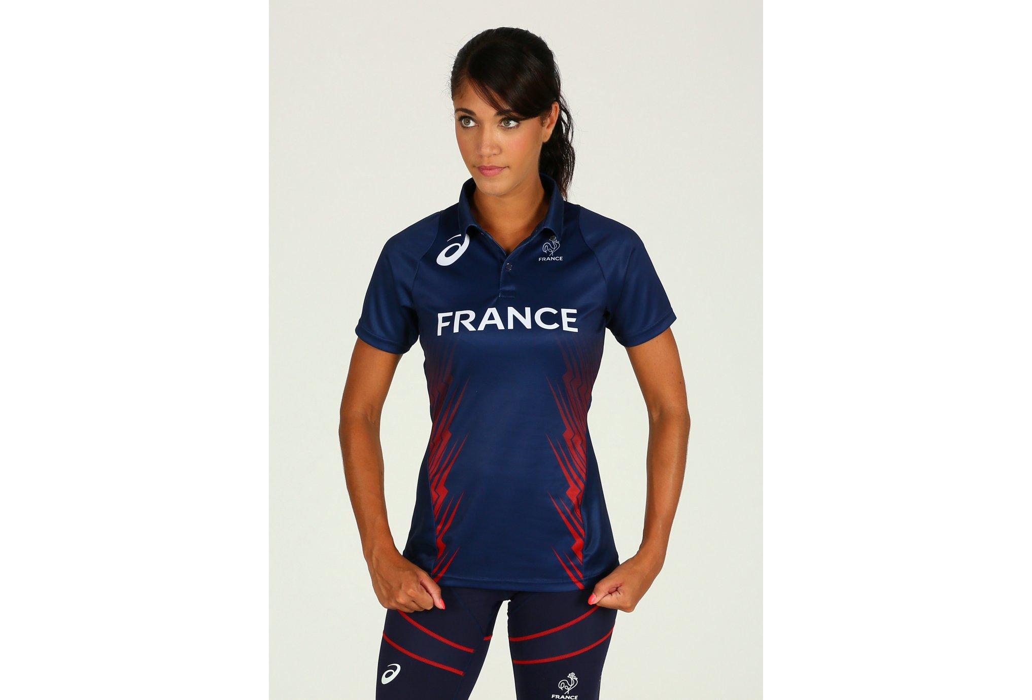 Asics Polo Rio Équipe de France W Diététique Vêtements femme