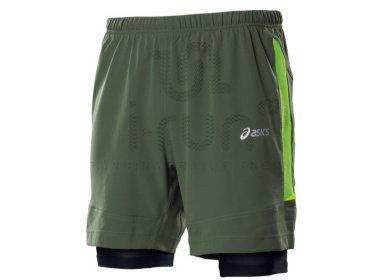 f59c4cb484a60 Asics Short Fuji 2 en 1 M pas cher - Vêtements homme running Shorts ...