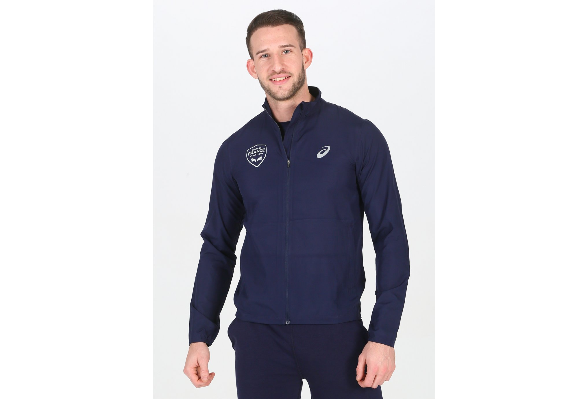 Asics Silver Jacket France M vêtement running homme