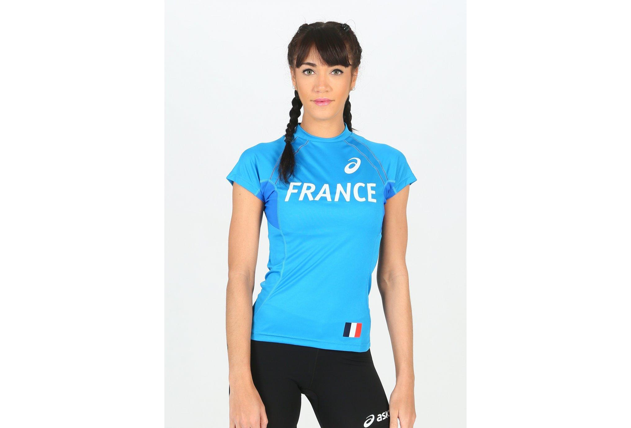Asics Tee-Shirt Équipe de France W vêtement running femme