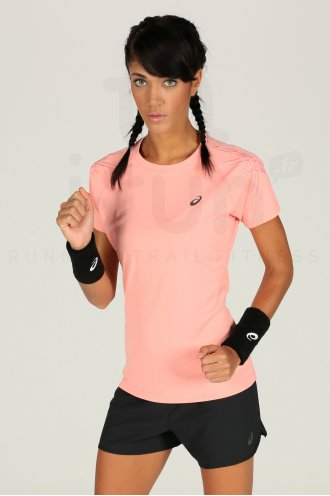 Running Shirt W Destockage Vêtements Cher Asics Pas Stripe Tee Top x85Cwfq