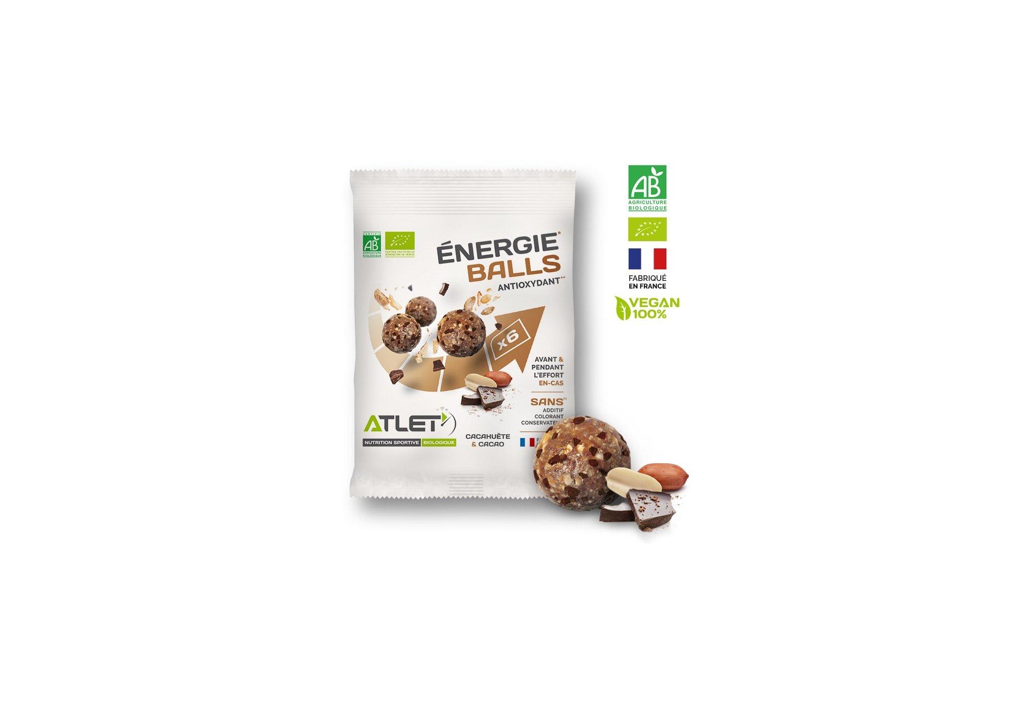 Atlet Énergie Balls Bio - Cacahuète et cacao Diététique Barres