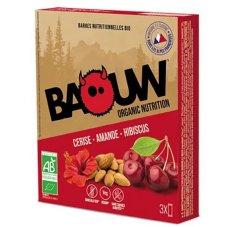 Baouw 3 barres nutritionnelles bio - Cerise - Amande - Hibiscus