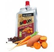 Baouw Eco recharge XXL purée nutritionnelle bio - Patate douce - Carotte - Poivre Timut