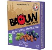 Baouw Étui 3 barres nutritionnelles bio - Myrtille sauvage - Noisette - Bourgeon de sapin