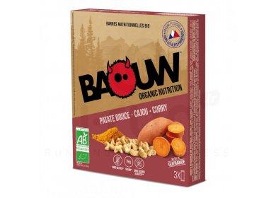 Baouw Étui 3 barres nutritionnelles bio - Patate douce - Cajou - Curry