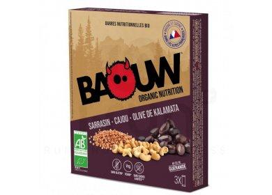 Baouw Étui 3 barres nutritionnelles bio - Sarrasin - Cajou - Olive de Kalamata