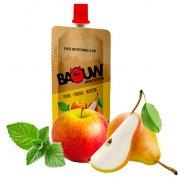 Baouw Purée nutritionnelle bio - Poire - Pomme - Menthe