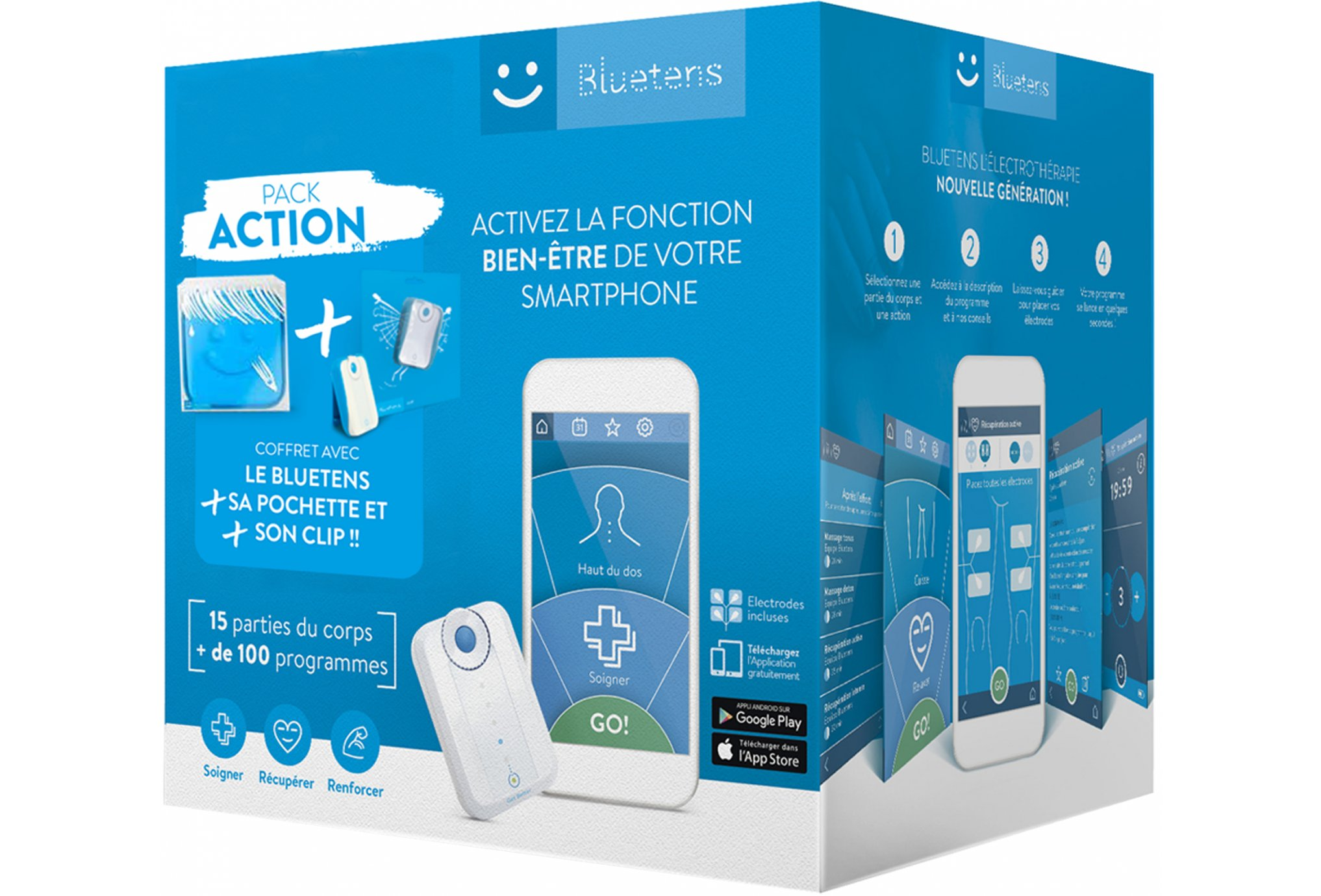 Bluetens Pack Action Electrostimulateur
