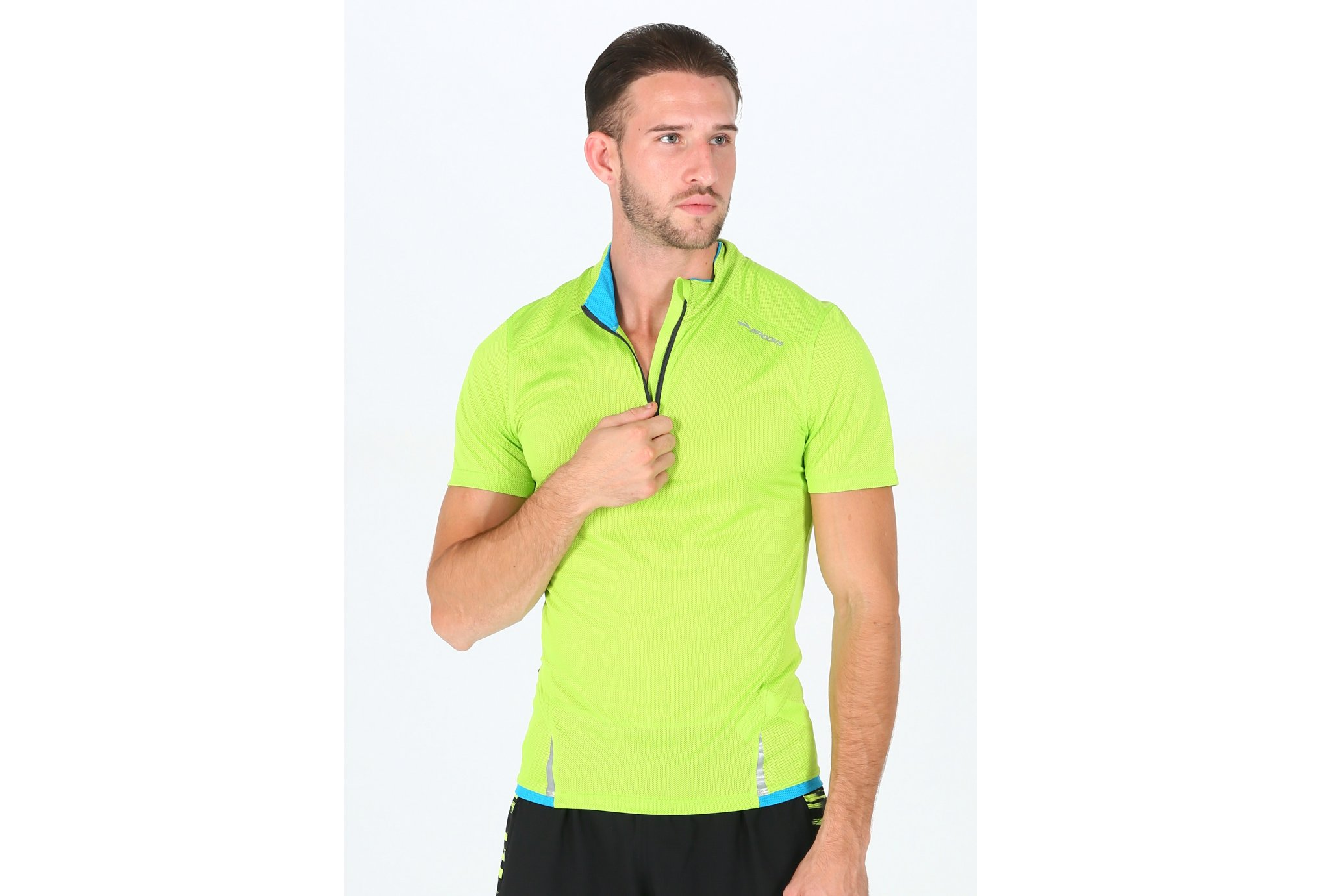 Brooks Tee-shirt Infiniti 1/2 Zip M Diététique Vêtements homme