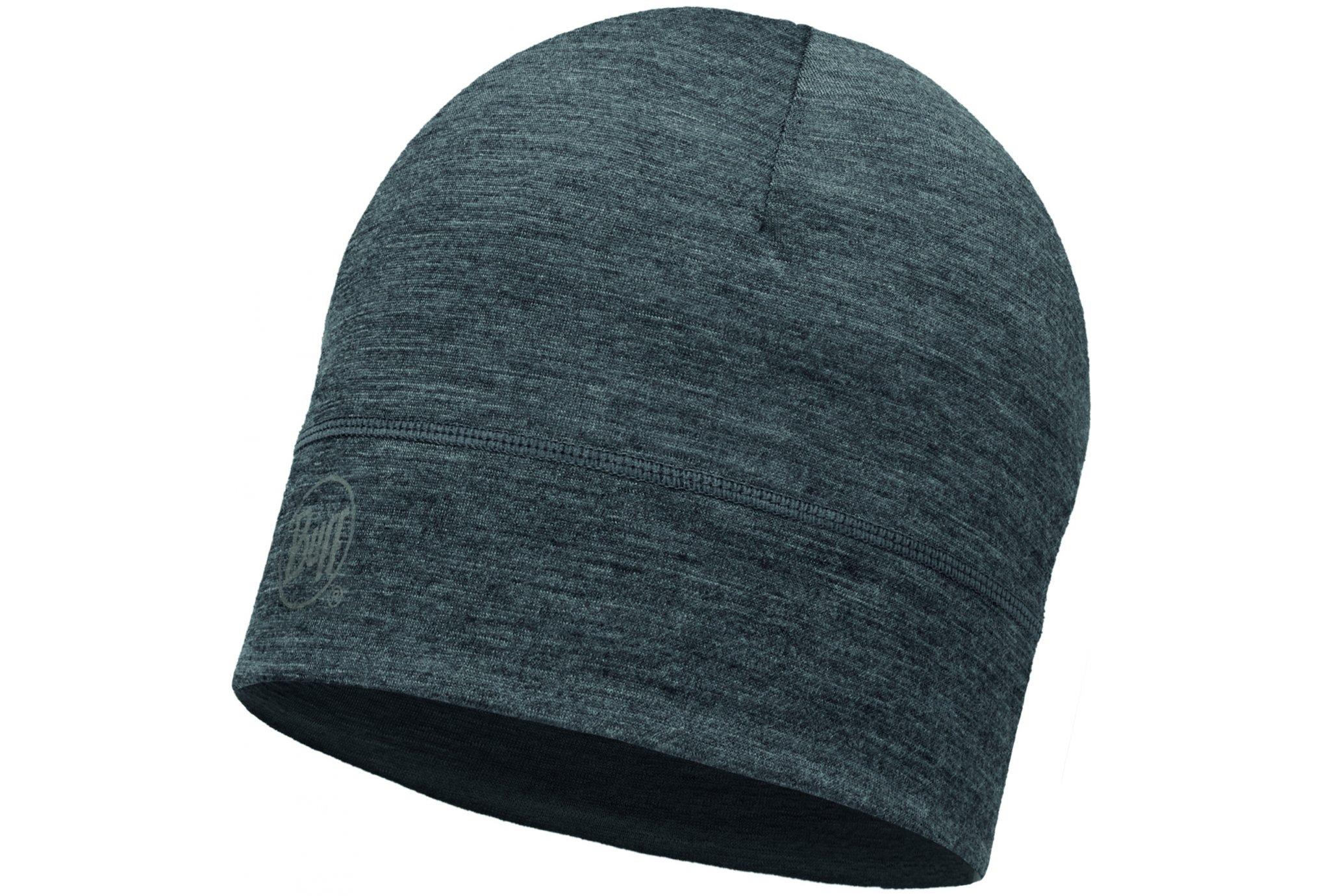 Buff Merino Wool Solid Grey Bonnets / Gants