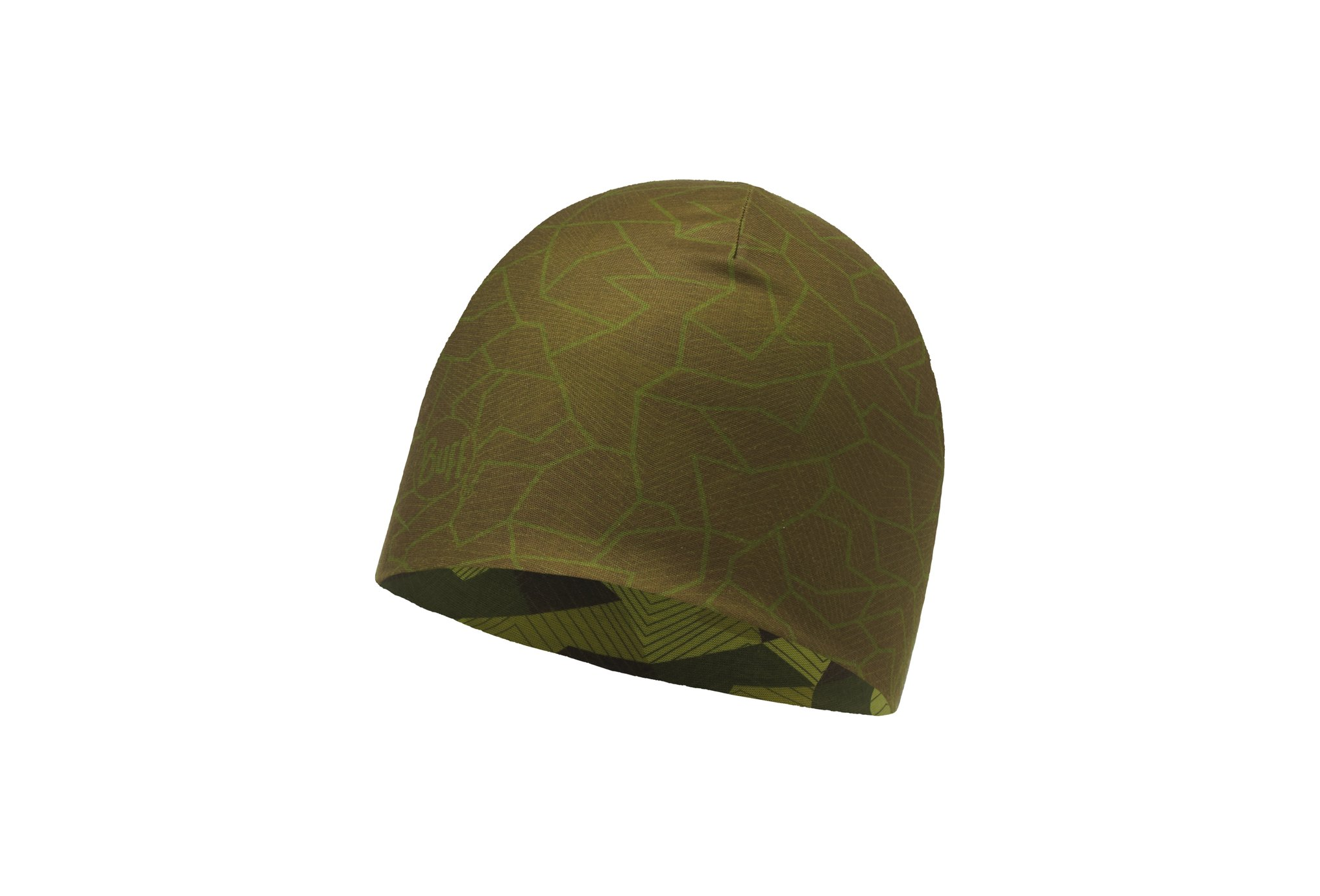 Buff Microfiber reversible block camo green bonnets / gants
