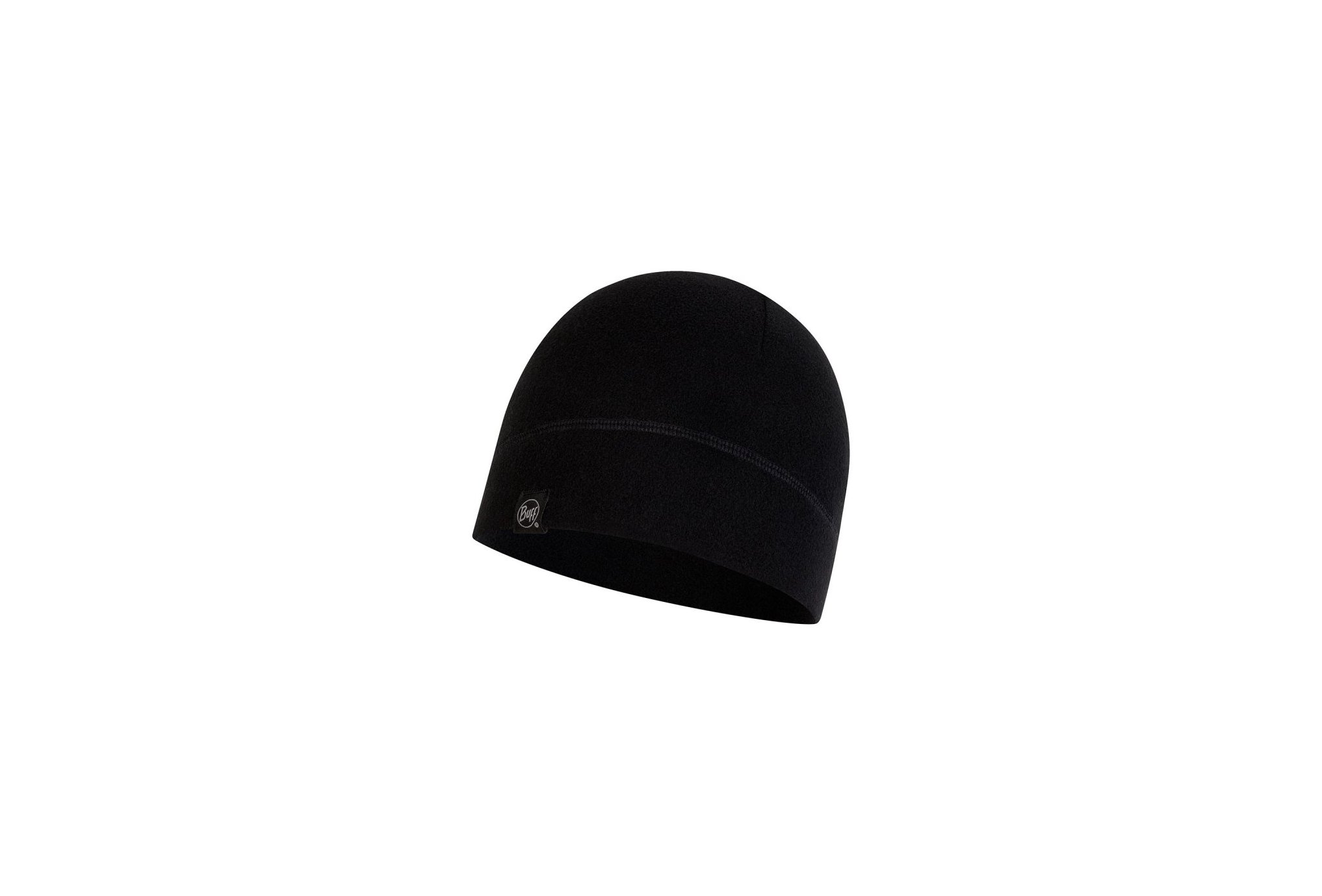 Buff Polar Solid Black Bonnets / Gants