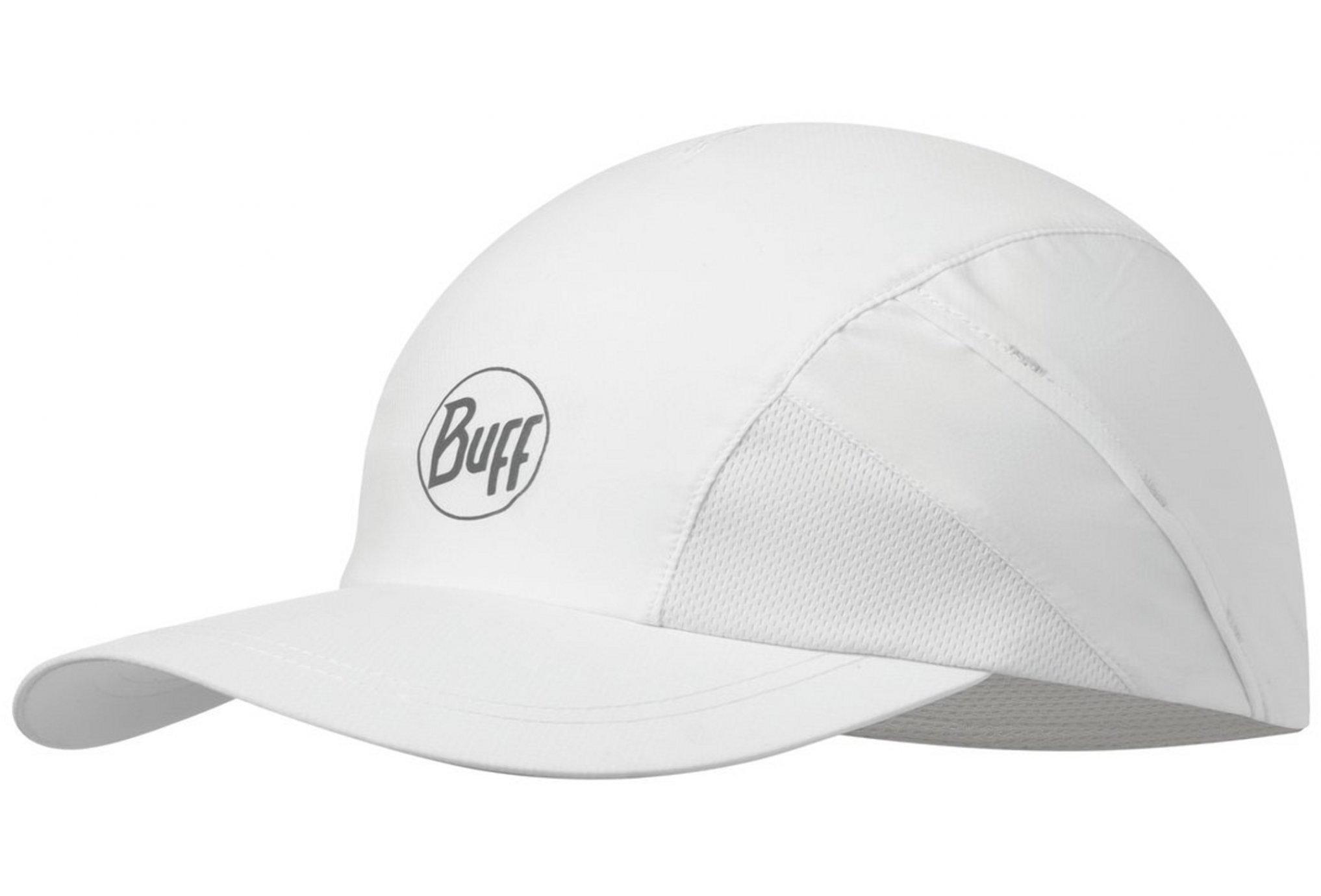 Buff Pro Run Cap R-Solid White Casquettes / bandeaux