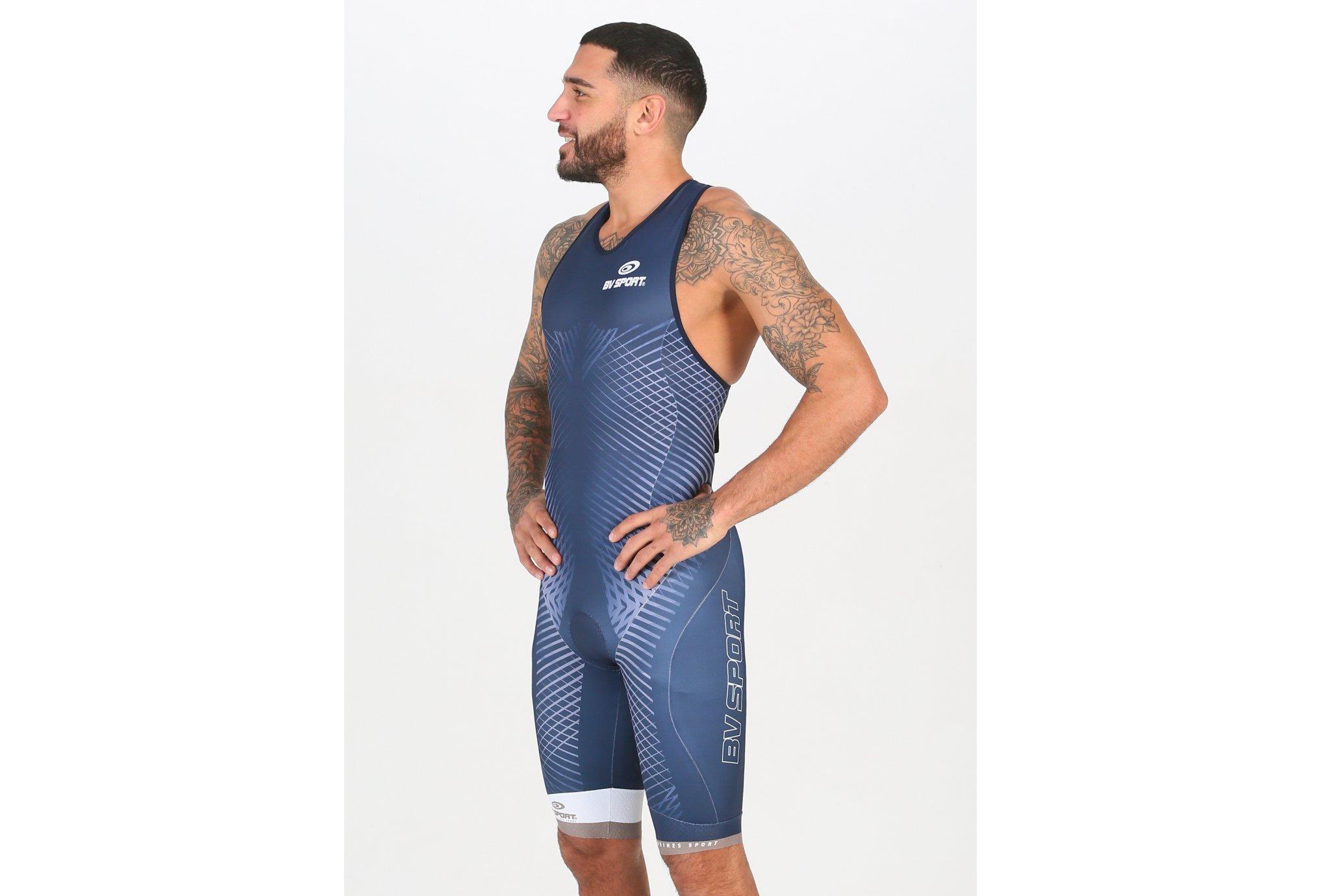 BV Sport Combinaison Triathlon 3x100 M vêtement running homme