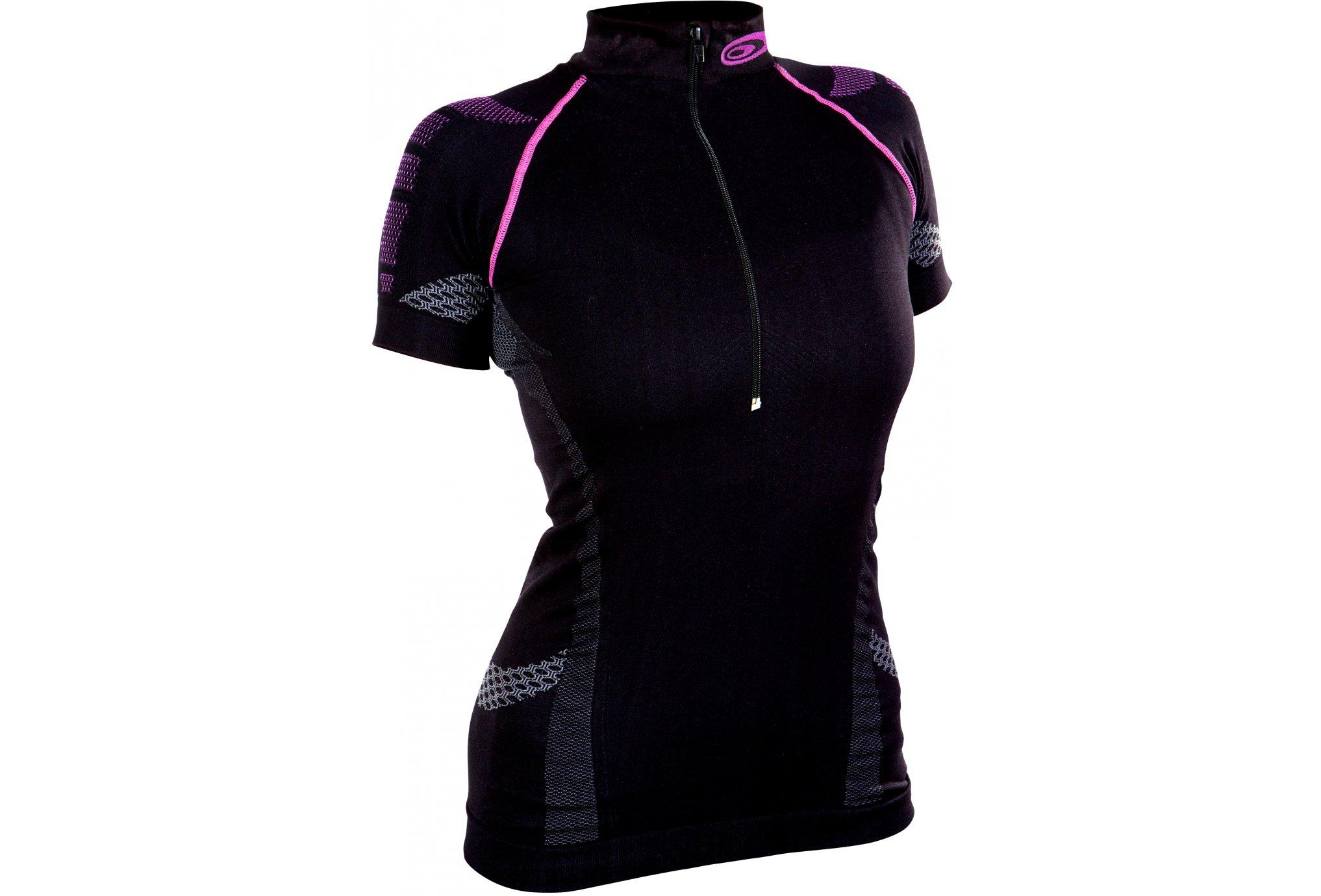 BV Sport Tee-shirt Nature3R 1/2 zip W Diététique Vêtements femme