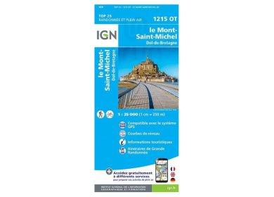 Carte IGN 1215OT Le Mont-Saint-Michel