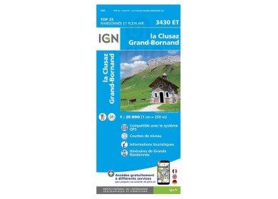 Carte IGN La Clusaz Le Grand-Bornand 3430ET