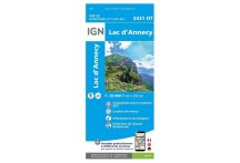 Carte IGN Lac d'Annecy 3431OT