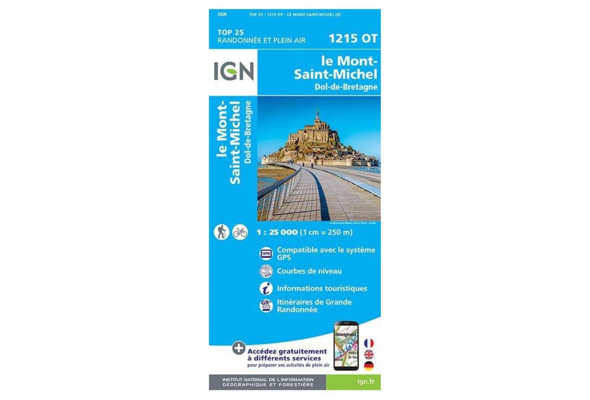 Carte IGN Le Mont-Saint-Michel 1215OT Cartes
