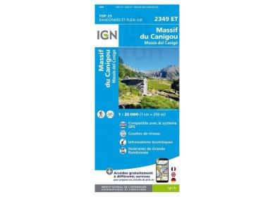 Carte IGN Massif du Canigou 2349ET