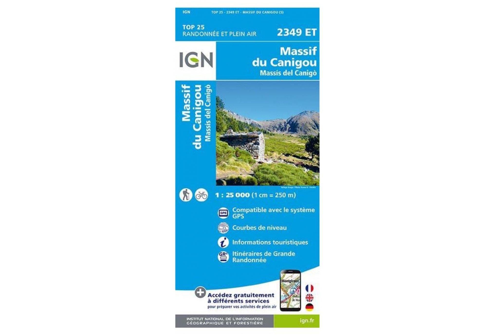 Carte IGN Massif du Canigou 2349ET Cartes