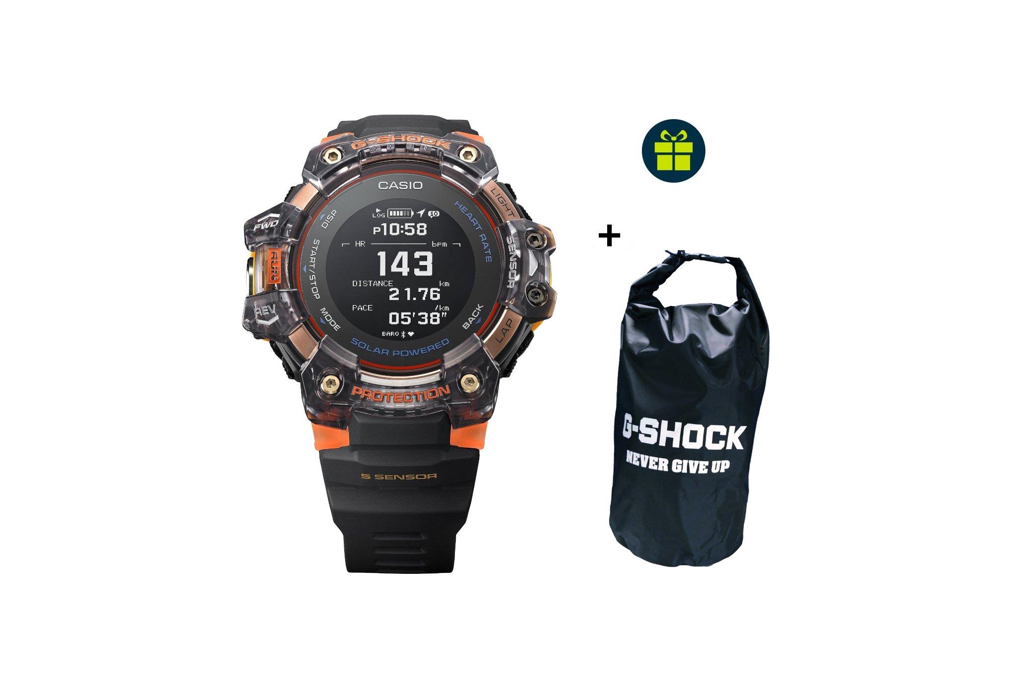 Casio G-SQUAD HR GBD-H1000-1A4ER et sac étanche G-Shock offert Cardio-Gps
