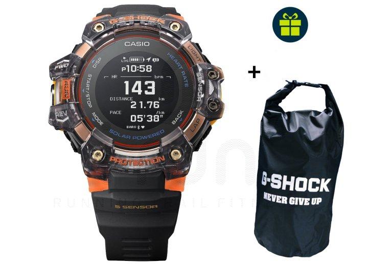 Casio G-SQUAD HR GBD-H1000-1A4ER et sac étanche G-Shock offert