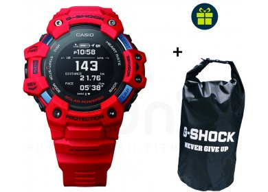 Casio G-SQUAD HR GBD-H1000-4ER et sac étanche G-Shock offert