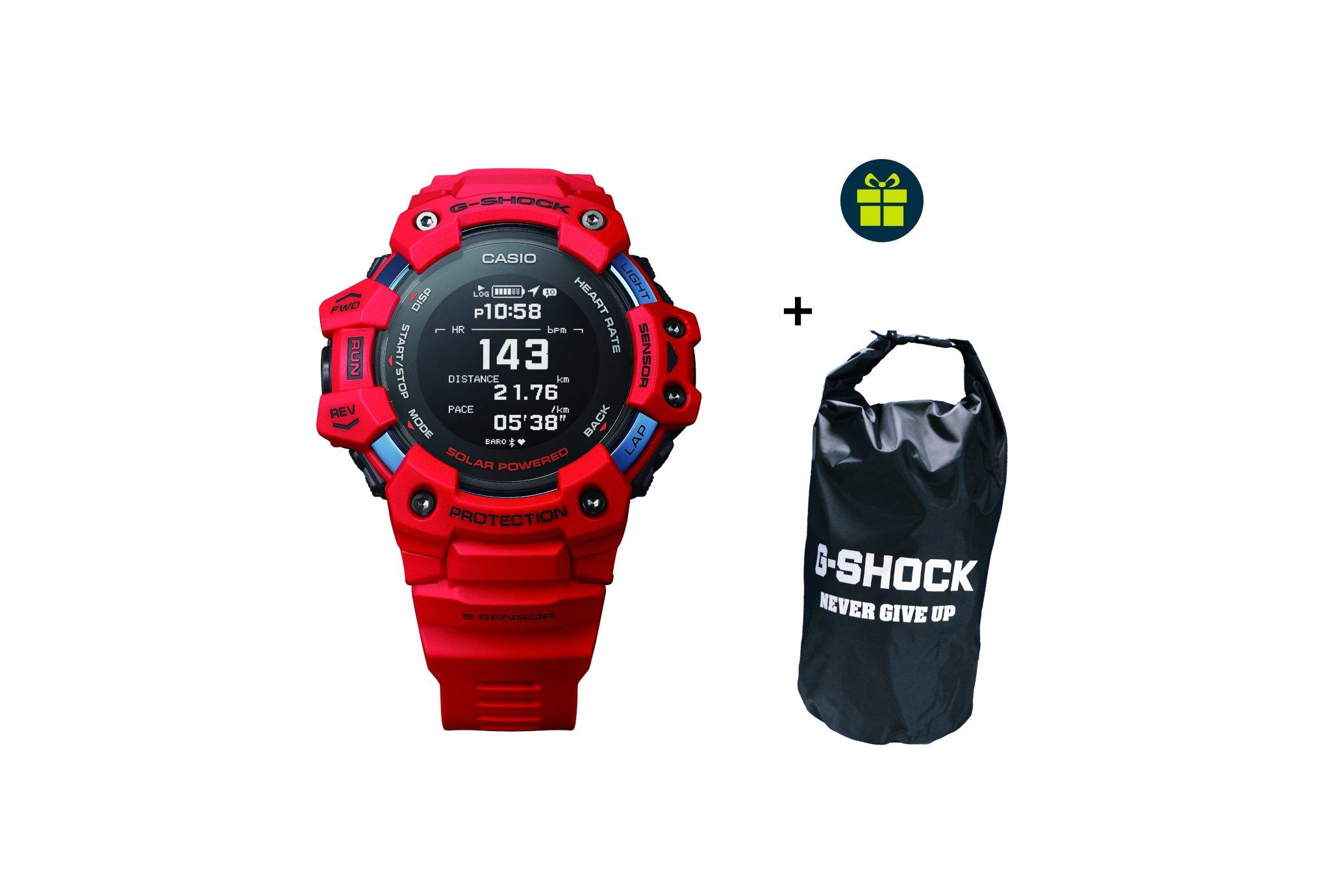 Casio G-SQUAD HR GBD-H1000-4ER et sac étanche G-Shock offert Cardio-Gps