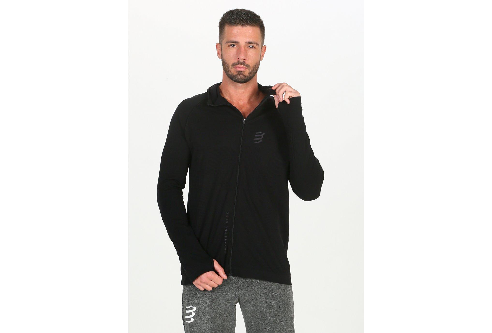 Compressport 3D Thermo Seamless Hoodie Black Edition 2020 M Diététique Vêtements homme
