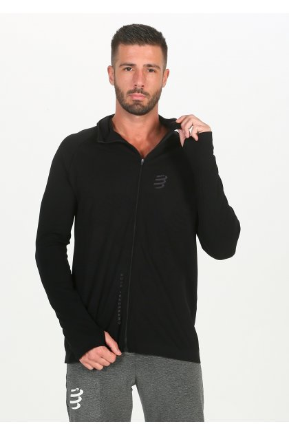 Compressport camiseta manga larga 3D Thermo Seamless Hoodie Black Edition 2020