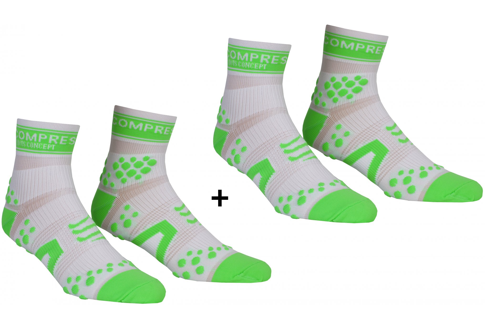 Compressport Pack Chaussettes Pro Racing V2 Run High Chaussettes