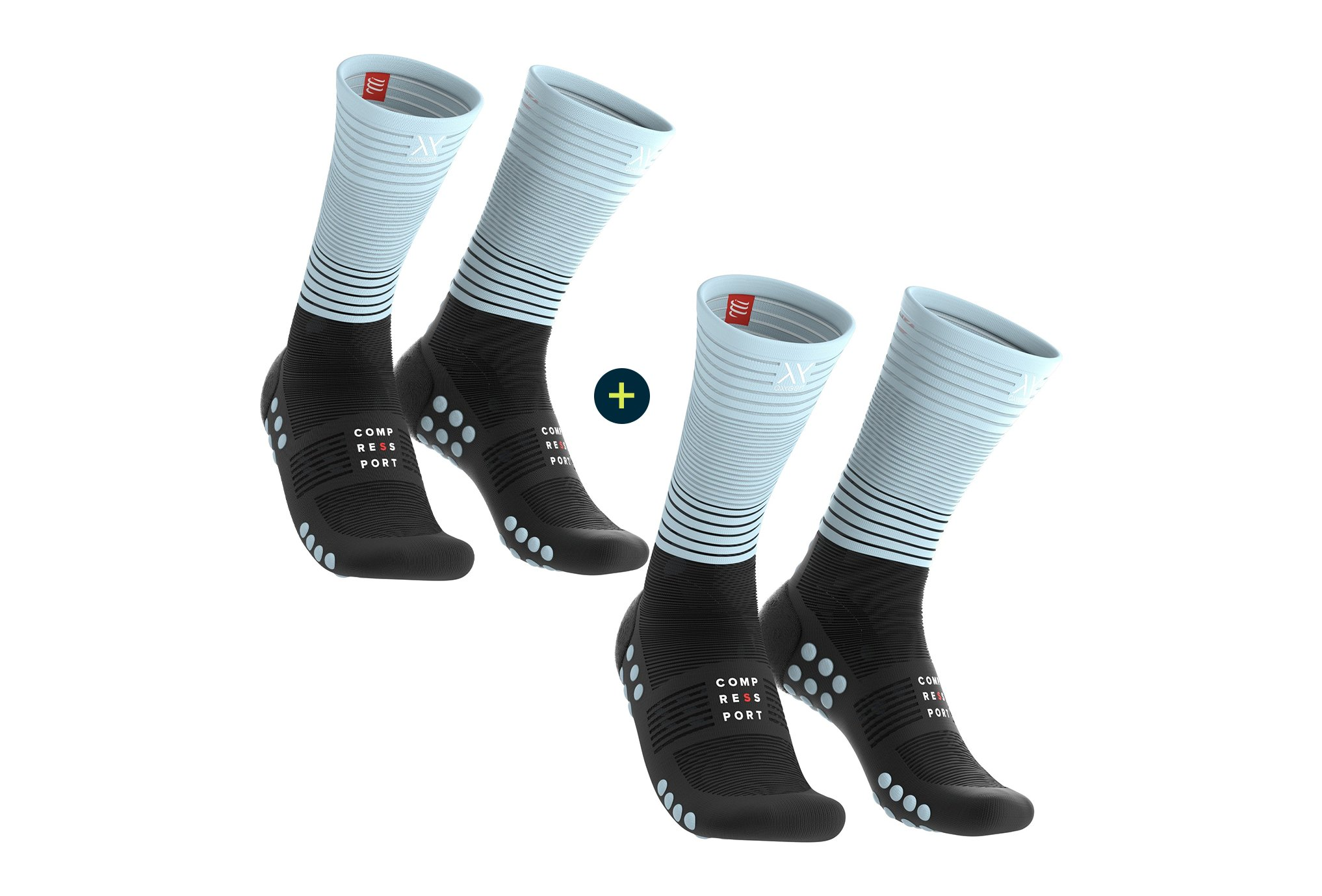 Compressport Pack Mid Compression Chaussettes