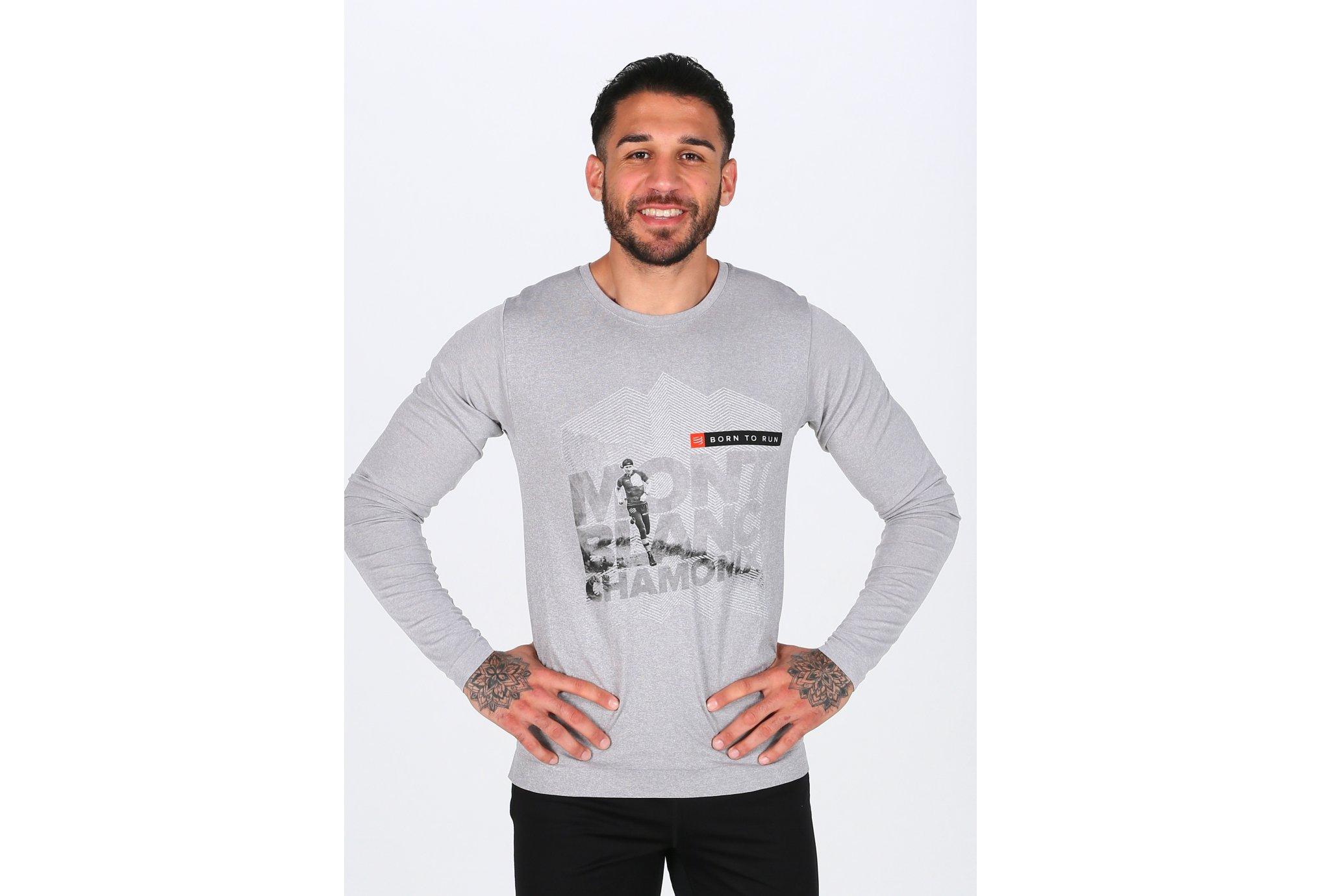 Compressport Training Tshirt Mont Blanc M Diététique Vêtements homme