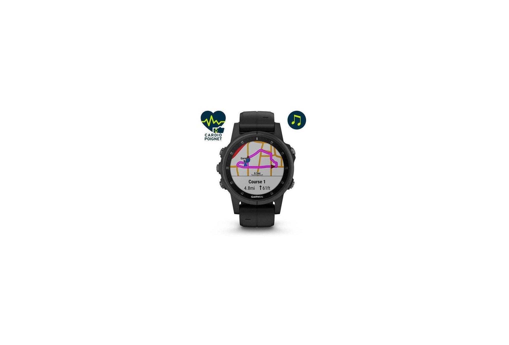 Garmin Fenix 5S Plus Black Zafiro Cardio-Gps