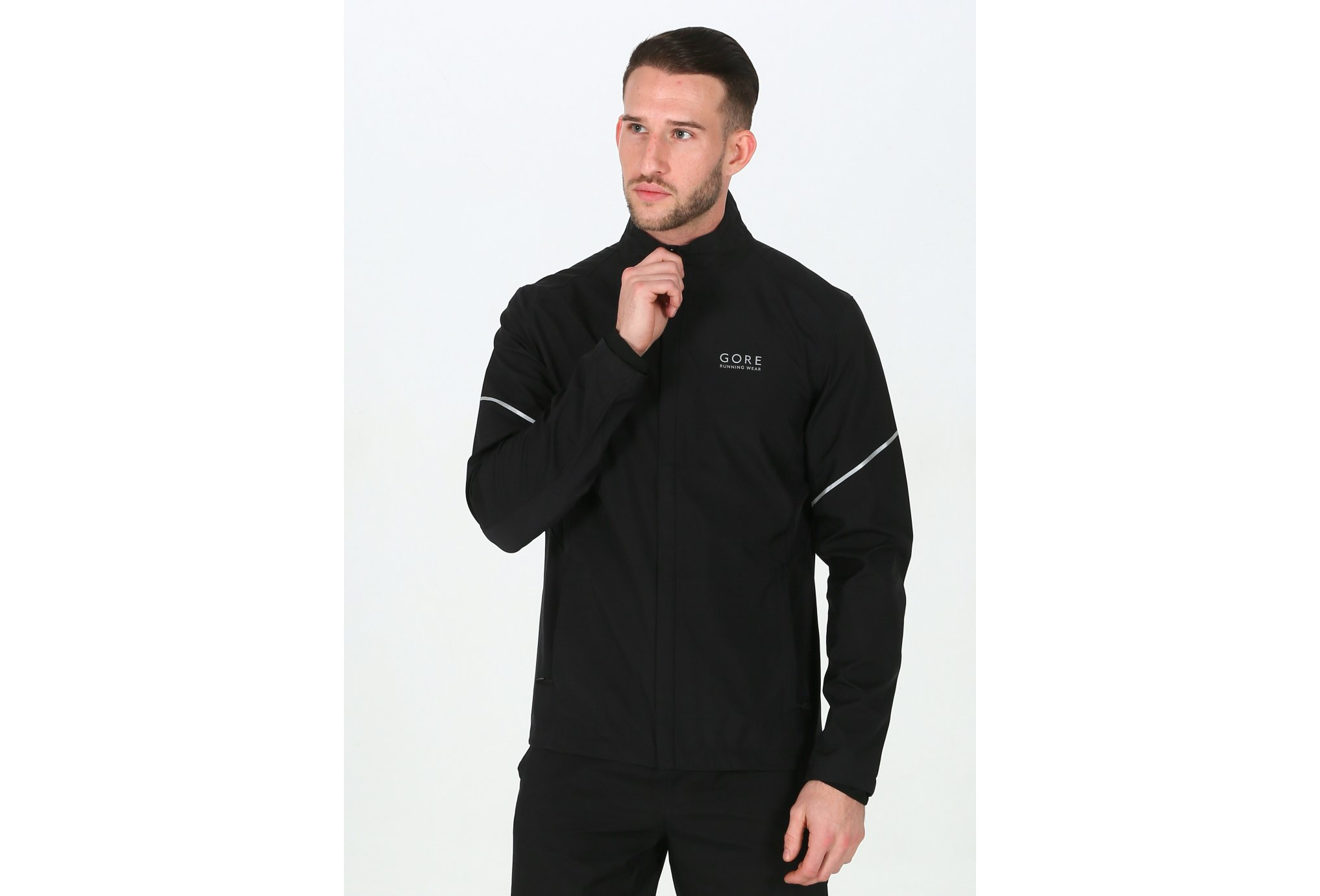 Gore Wear Essential Windstopper AS Partial M Diététique Vêtements homme